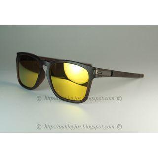 Oakley Latch Squared Asian Fit matte rootbeer + 24k iridium oo9358-05 sunglass shades