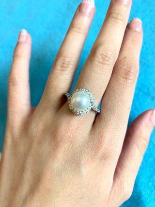 925純銀珍珠戒指