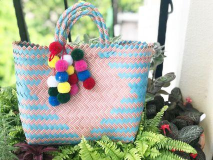 Straw Bag handmade by villager 💯 product of indonesia size L