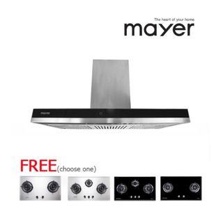 MAYER Chimney Hood with Free Gas Hob