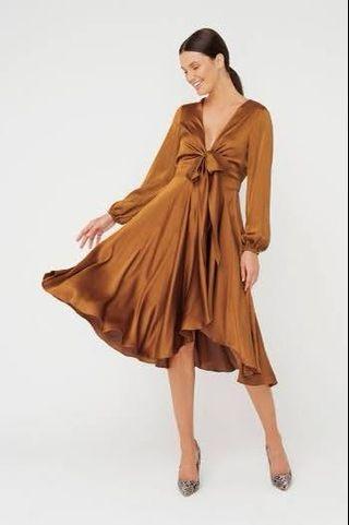 Sheike Bronze wrap dress