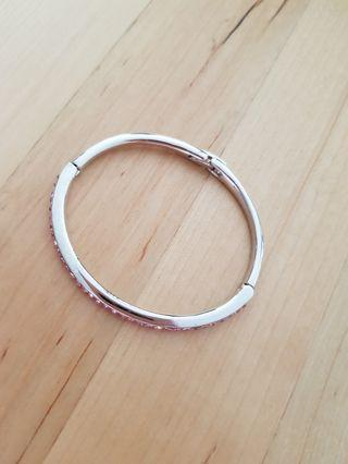 Silver with Crystal Bangle
