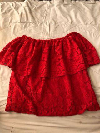 Sabrina Top red rose