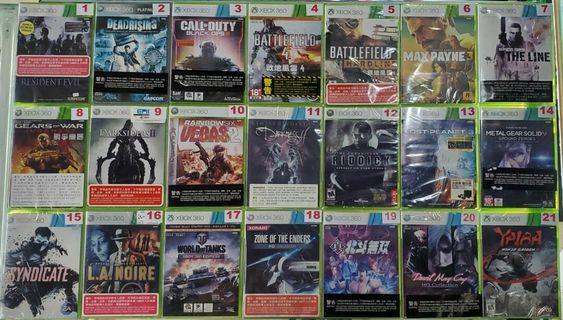 全新未開封Xbox 360遊戲 (#詳細價錢請參考內文)