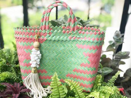 Handwoven handmade bag size S