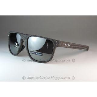 Oakley Holbrook Round Asian Fit woodgrain + prizm black iridium oo9379-0555 sunglass shades