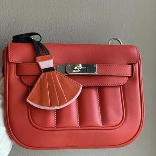 Hermes Mini Berline in Rouge Tomate