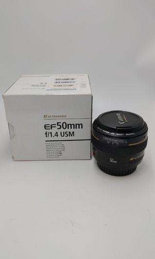 Canon 50mm F1.4 over90%new