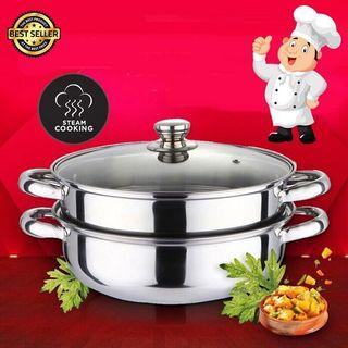 Free Postage Stainless Steel Steam Pot