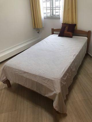 Super Single Wooden Bed Frame