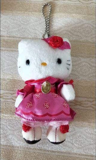 🚚 Authentic Hello Kitty Rose Plush Keychain