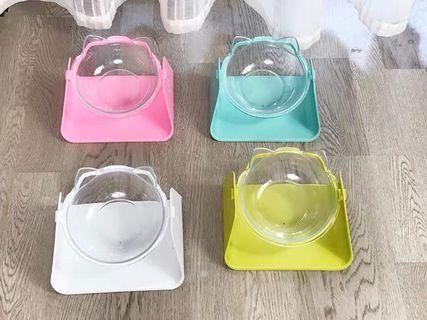 (現貨)斜口保護頸椎貓造型寵物碗