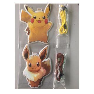 全新 比卡超 伊貝 伊布 Pikachu Eevee Pokemon 八達通 證件 套