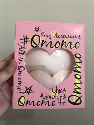 Qmomo 心型 胸墊 -粉色