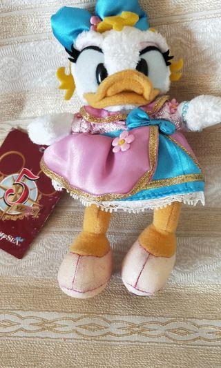 🚚 New Authentic Disney Daisy Duck 15cm Plush Bag Pin/ Clip