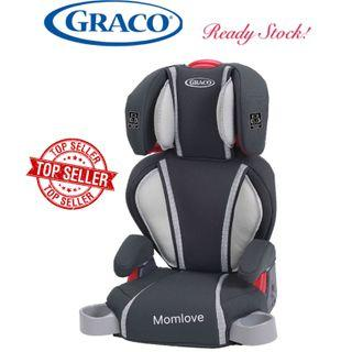 Ready Stock ! Brand New Graco Highback Turbobooster Baby Kids Children Toddler Youth Booster Car Seat, Green/Glacier (Head & Shoulder Baby Safety Seats) for Age 4-10 Years Old