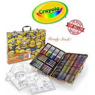 Brand New Crayola Despicable Me Inspiration Art Case, 120+ Pieces, Minions, Art Set, Ages 5+ (Best Kids Children Birthday Drawing Art Artist Present Gift) *USA Imported*