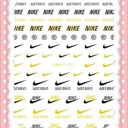 BNIP Nike Black and Gold logo nail stickers nail art nail decal