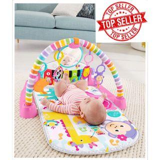 Brand New in Box Fisher Price Deluxe Kick 'n Play Piano Gym Mat, Pink) *USA Imported* Limited Edition* (Best Baby Girl Shower Full Moon Present)