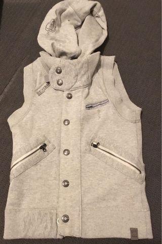 G Star Raw Grey Winter Vest Size XS