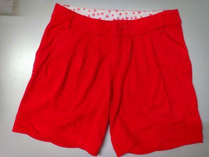 Red Short pant
