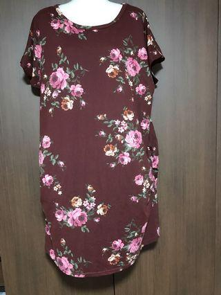 BN Plus Size Ruched Rose Dress