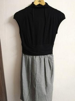Zara high neck work dress