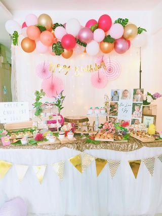 Rustic dessert table(boy or girl)