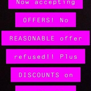Accepting all reasonable offers plus discount on bundles