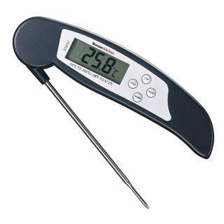 1315) Bonsenkitchen Digital Thermometer,Instant Read Meat Thermometer for Grilling, BBQ and Heated Liquid Drinks, Large Digital LCD Display, Foldable 4.17 Inches Long Stainless-Steel Probe