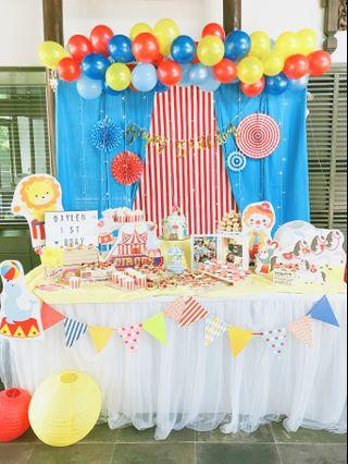 Dessert Table in Circus/Carnival theme