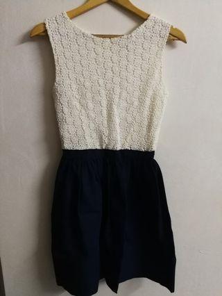 Naf Naf crochet dress