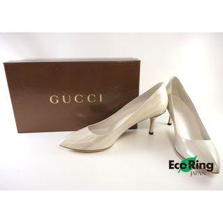 Gucci 古馳 High Heels Patent Leather 白色漆皮高跟鞋 100%真品