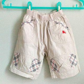 🔆夏天°格紋拼接卡其褲(95~110cm)
