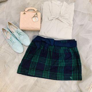 A&F 100%美國帶回正品保證 品質保證 女生學院風英倫格子短裙
