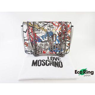 Moschino 莫斯奇諾 Love Moschino Graffiti Chain Shoulder Bag 塗鴉 單鏈包 單肩包 100%真品