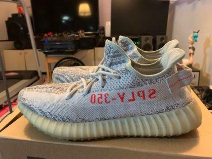 Yeezy boost v2 blue tint size 10 US