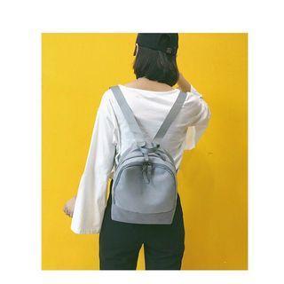 韓版帆布後背包 灰色