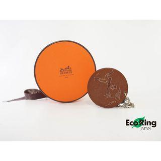 Hermes 愛馬仕 Catch Me Heart Bag Charm Round Leather Key Ring 圖形皮革吊飾 100%真品
