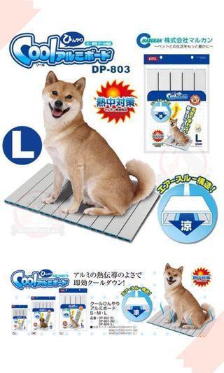 🚚 日本Marukan塌塌米鋁製涼墊L號DP-804中小型犬貓可用 99%以上的高純度鋁散熱墊,體驗冰涼感(含運)