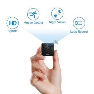 1319) FREDI Hidden Camera 1080P HD Mini Spy Camera Small Wireless Camera Tiny Covert Cam Security Wifi