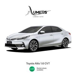 2017 Altis For Rent Eligible for GRAB REBATES