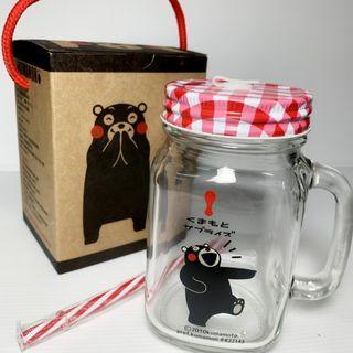 全新《熊本熊》玻璃杯罐450ml
