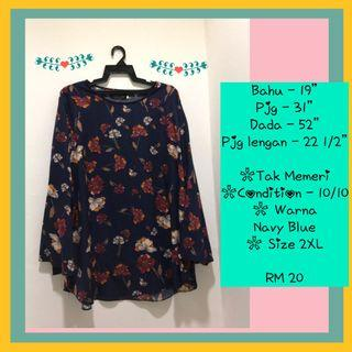 Flowery Top Plus Size