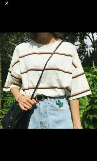 🚚 Brown Striped T-Shirt