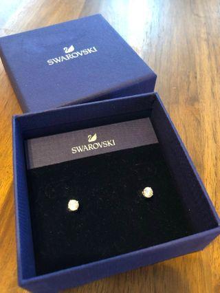 Swarovski Crystal Pearl 2-WAY reversible earrings 耳環