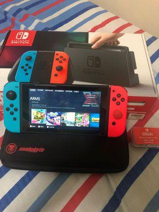 Modded sxos Nintendo Switch with 128gb