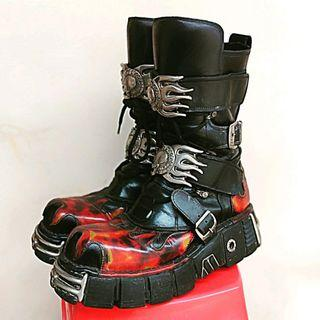 Sepatu Boots NewRock Sepatu Rocker biker Moge Harley davidson Original
