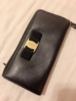 Salvatore Ferragamo Vera Zip Around Wallet