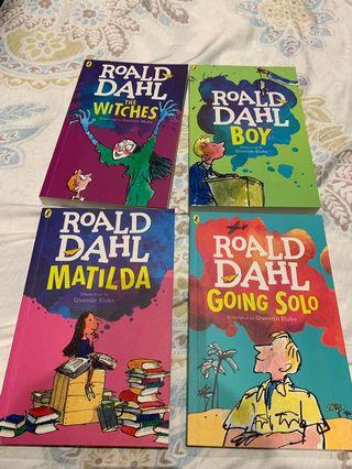 Roald Dahl Books and wimpy kid